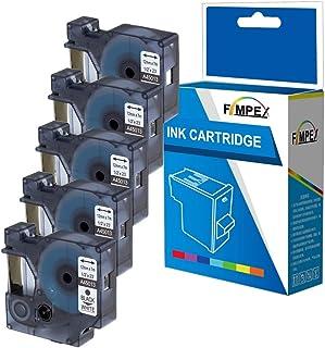 Wireless PnP InkJello Compatibile Nastro per Etichettatura Sostituzione Per Dymo LabelManager 120P 260P 12mm 450 280 350 Nero su Bianco, 2-Pack 150 350D PC2 MobileLabeler 45013 1//2