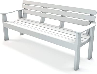 Frog Furnishings Elizabeth Bench, 6', White
