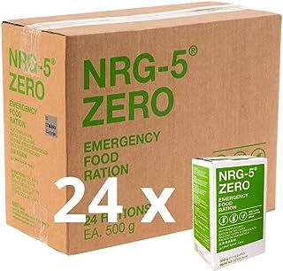 NRG-5 alimentos de emergencia sin gluten - 1 caja de 24 paquetes de 500 g