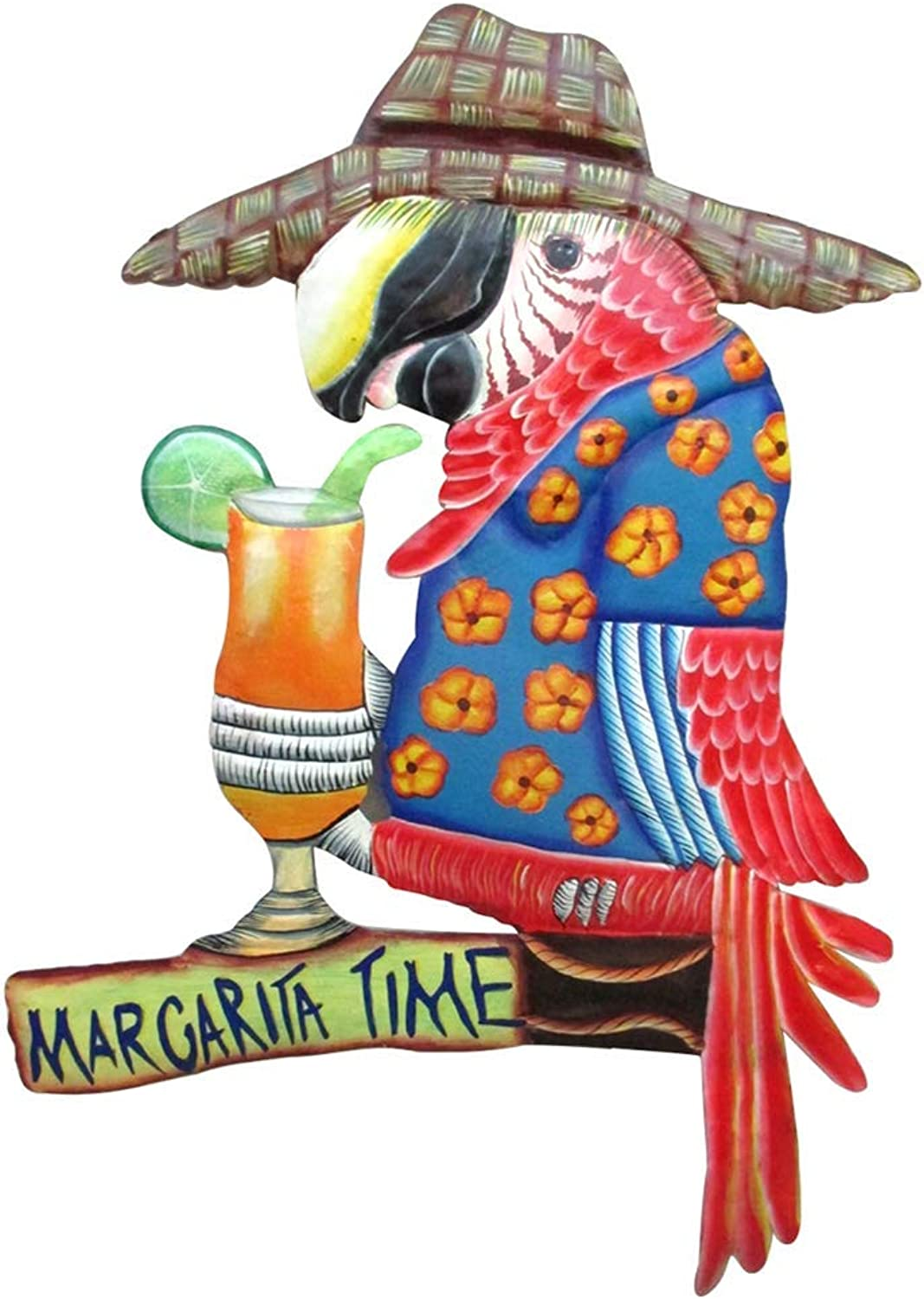 Margarita Time Parred Metal Wall Art, colorful Bar Sign for Man Cave, Summer Beach House Décor Accessory