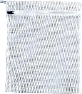 ダイヤ フランドリー・しっかり洗うネット角40 ホワイト・グレー 蛍光増白剤不使用・壊れにくい洗濯ネット専用ファスナー使用