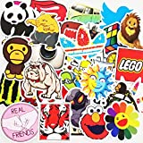 200 Pack Vinyls Sticker Decals for Mug, Cell Phone, Door, Wall, Laptop, Cars, Graffiti, Motorcycle, Bicycle, Skateboard Luggage, Water Bottle, Bumper Stickers Decal Hippie (Type D(200 Pattern 2 Pack)