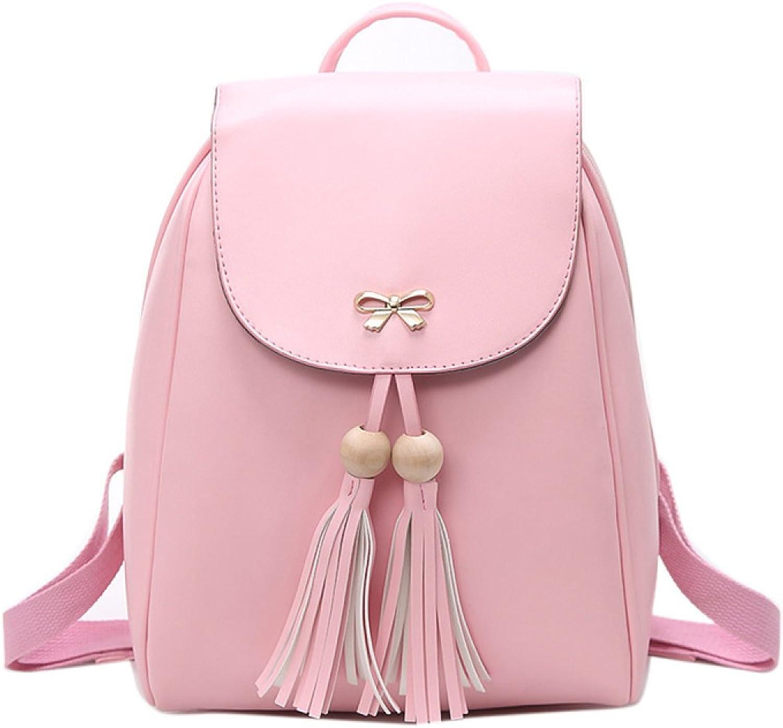 Ladies Bag Fashion Simple Women's Shoulder Bag Travel Backpack,PinkOneSize