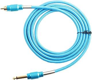 HEALLILY cables de clip de tatuaje rca cable rotativo de la máquina de tatuaje conector de cable de alimentación de repuesto fuentes de alimentación del tatuaje (azul cielo)