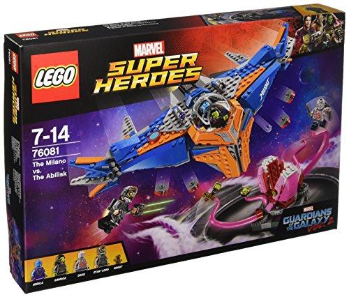 LEGO Marvel Super Heroes - Milano Vs. Abilisk, Juguete de Construcción de Aventuras con Nave de los Guardianes de la Galaxia (76081)