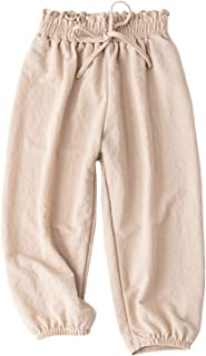 BINBOY Baby Summer Cotton Harem Pants Soft Pants Harem Pants for Kids 3-7T