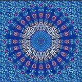 GenericBrands Tapiz de Pavo Real Mandala Bohemio Colgante de Pared Decoración para el hogar Psicodélico Decorativo de la Pared Apartamento Dormitorio Decoración de la habitación
