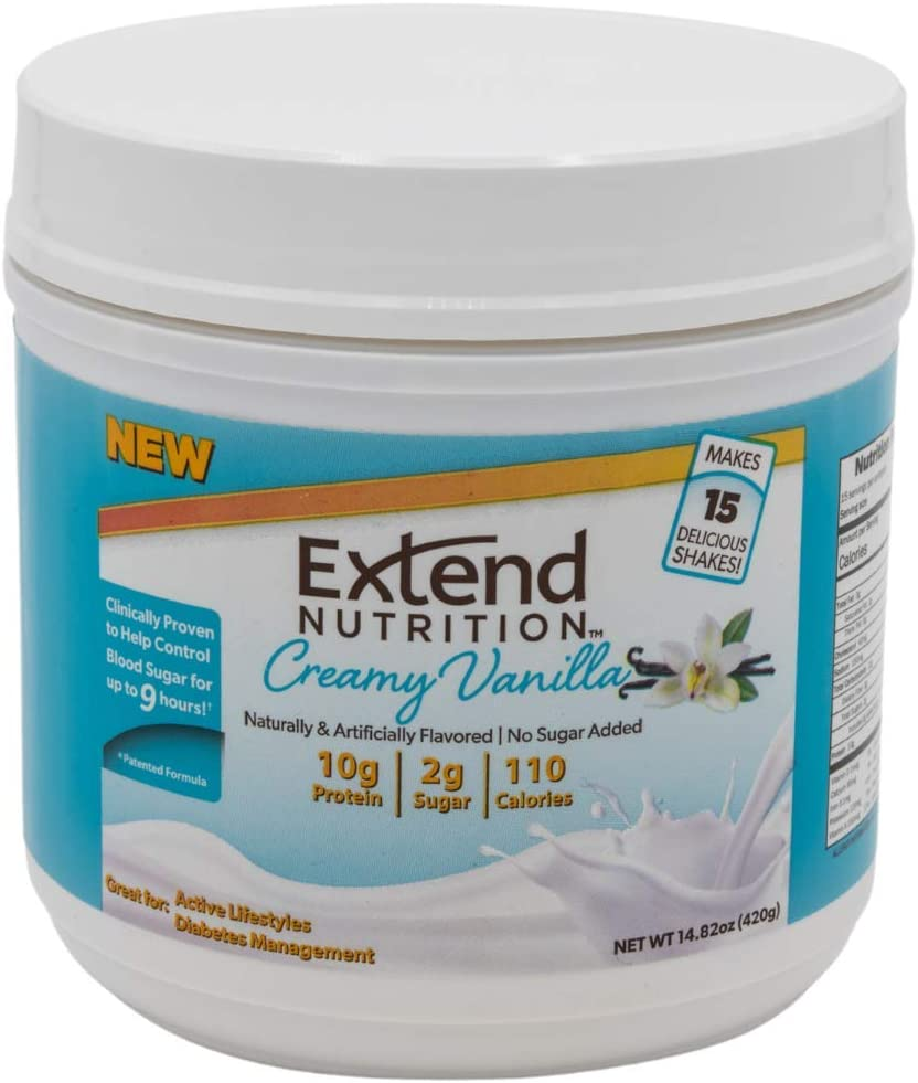 Extend Anytime Creamy Spring new work Vanilla Whey Protein Baltimore Mall Replaceme Meal Powder