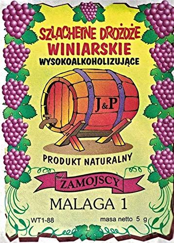 Hugbert Weinhefe Malaga 1, Nährstoff Klärungsmittel für Weiß- Rotweine, 100% natürlisches Produkt, Hefe, 1 Stück