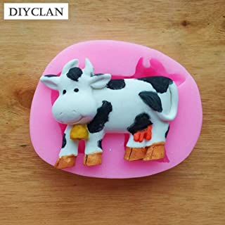 1 piece Cow silicone Mold for cake decoration animal slicone fondant molds chocolate making tools moldes