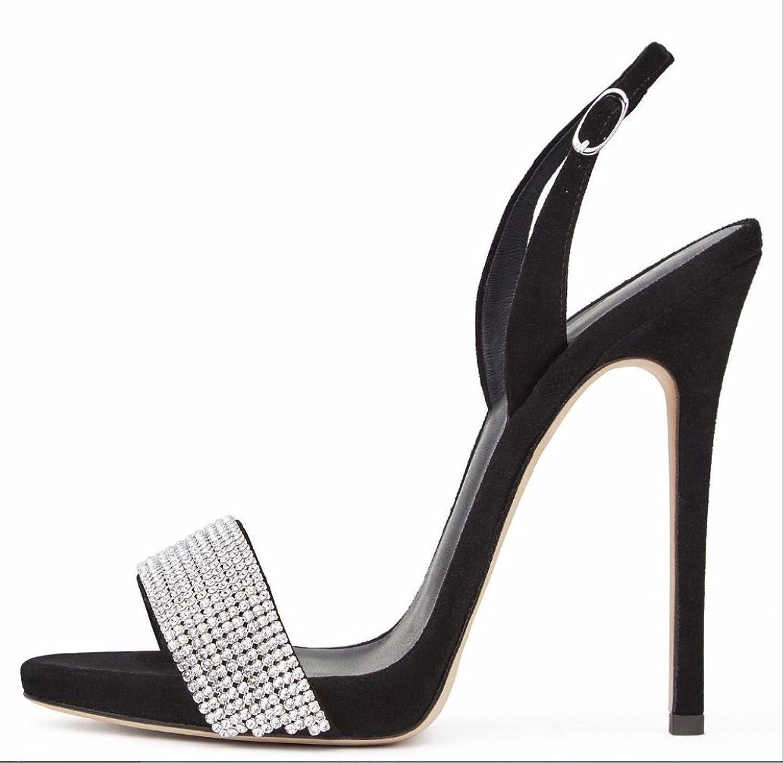 Lady Lady Lady High klackar Ultimate High mode Peeps skor Handgjorda Sandaler Bridal Senior Diamond Crystal bröllop skor High klackarXIAQI  spara upp till 50%