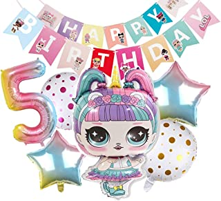 LOL Party's Balloons Surprise Birthday Balloon - Lol Birthday Party Decorations- Bouquet Decorations Surprise Doll Balloons - Birthday Party Supplies for Girls
