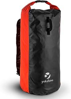 Quintona 70R Mochila de Trekking (70l Capacidad, diseño Resistente, estanco, Cortavientos, inoloro, Cierre con Clip, Altura Regulable, Bolsa Deportiva Ideal Ropa mojada, Color Rojo)