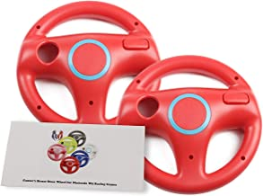 GH 2 Pack Mario Kart 8 Wheel for Nintendo Wii , Steering Wheel for Remote Plus Controlle - Mario Red (6 Colors Available)