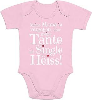 Shirtgeil Geschenke für und von Tante - Tante ist Single und Heiss Baby Body Kurzarm-Body
