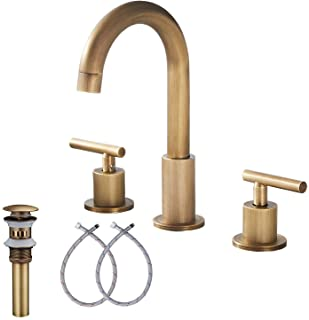 Widespread Bathroom Faucet Yifinessyi 2 Handles Bathroom Faucet 16 inch 360 Swivel Spout Modern Bathroom Fauces 3 Hole Mat...