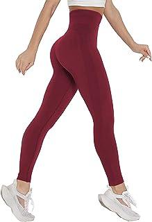 COMFREE Leggings Donna Fitness Palestra Pantaloni Vita Alta Anticellulite Leggings Sportivi Yoga Pants Senza Cuciture Nero...