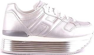 Luxury Fashion | Hogan Women MCBI35642 Silver Leather Sneakers | Season Outlet