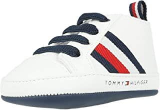 TOMMY HILFIGER Crib White Textile Baby Soft Soles Shoes