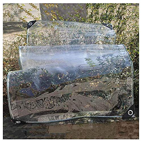 ZHANGQINGXIU Lonas Impermeables Exterior,Lona Impermeable PVC Protección Solar Resistente A La Humedad Mantiene Abrigado Cubiertas Transparentes Para Exterior Jardín Techo Cortavientos, Tamaño Persona