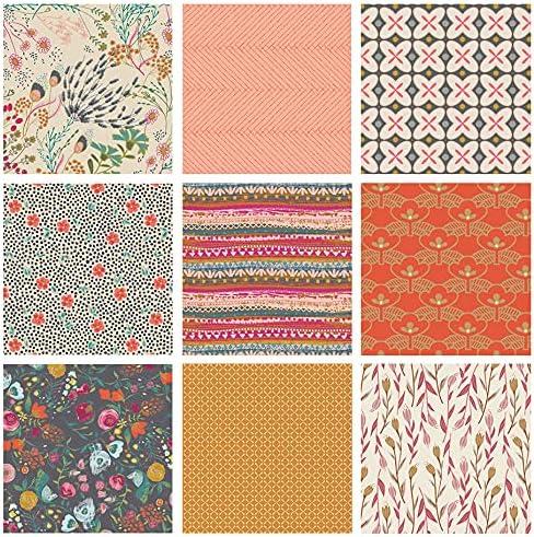 Boho Floral Quilt Bundle Max 82% OFF Indie Folk Tones Earth by Pat Bravo Sales for sale