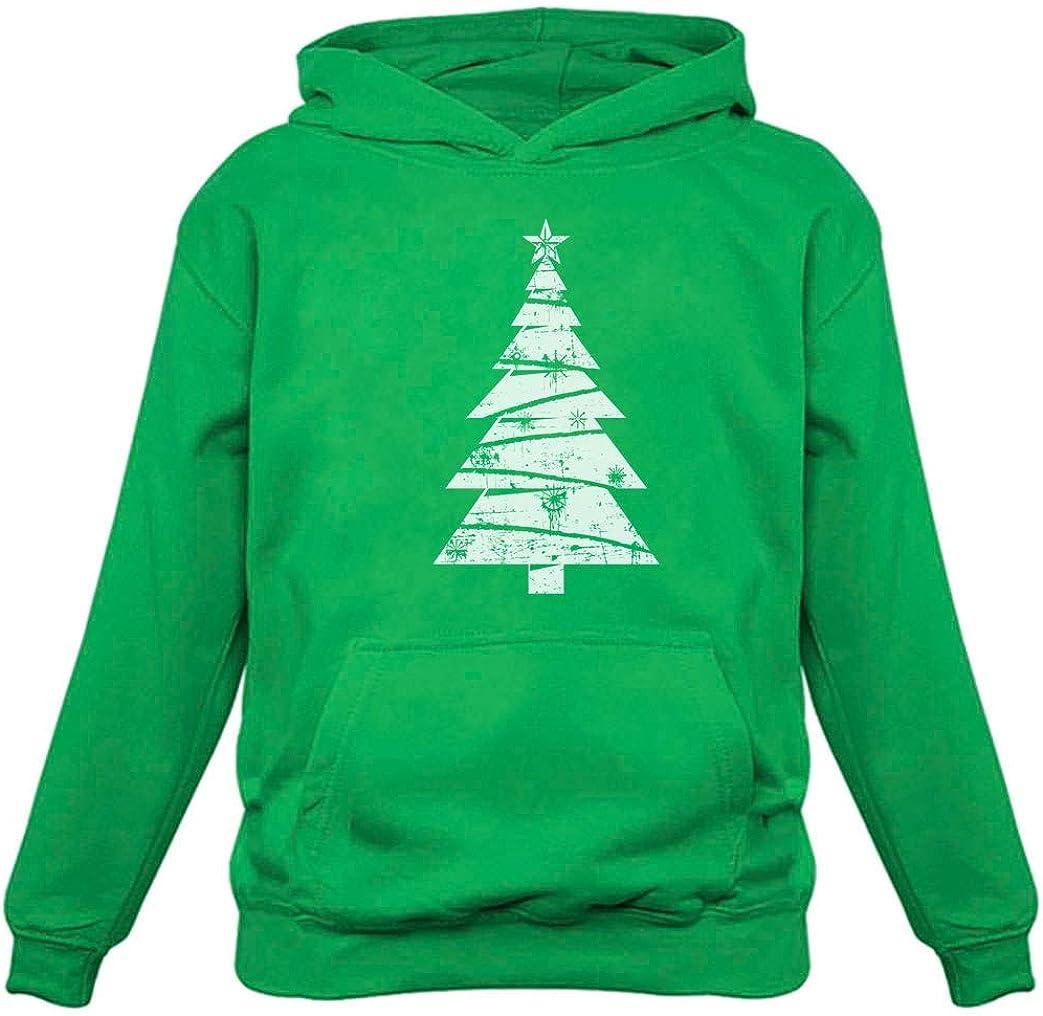 Big White Distressed Christmas Tree - Xmas Gift Idea Women Hoodi