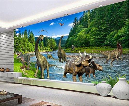 Yosot Custom 3D Vliestapeten Tv-Kulisse Wandbilder Jura Dinosaurier 3D Home Dekoration-140Cmx100Cm