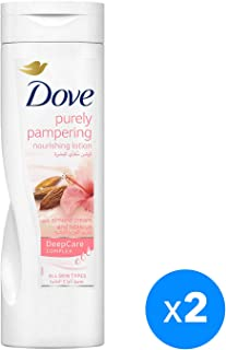 Dove Purely Pampering Body Lotion Almond, 2 x 250ml