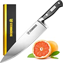 STEINBRÜCKE Chef's Knife - 10 Inch Pro Kitchen Knife, HRC58 German Stainless Steel, Sharp Chef Knife with Full Tang Ergono...