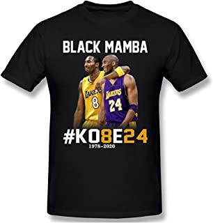 Sponsored Ad - JASFAWhawa Our Best Kobe 8 and 24 Our Hero Black Mamba Men`s T-Shirt Black L Commemorate, Large
