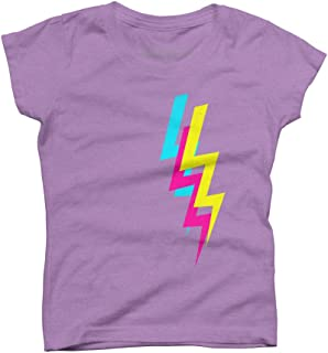 Design By Humans Electrico Girl's Youth Graphic T Shirt