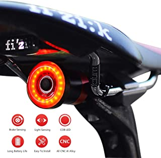 Nkomax Smart Bike Tail Light Ultra Bright, Bike Light Rechargeable Auto On/Off, IPX6 Waterproof...