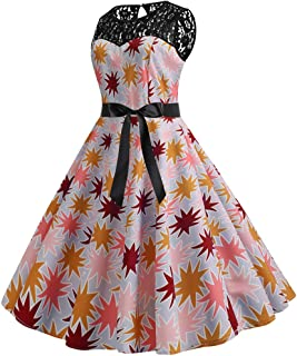 YKARITIANNA Vintage 1950s Rockabilly Polka Dots Audrey Dress Retro Cocktail Dress