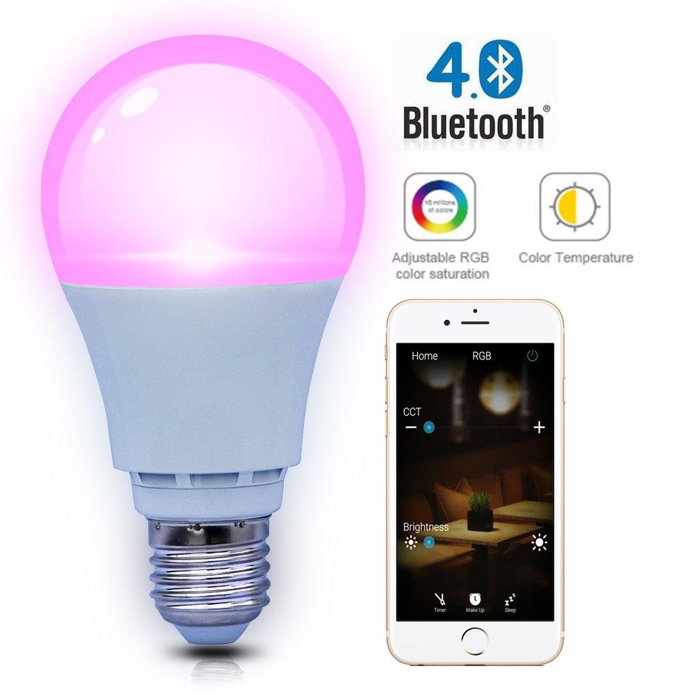 Shyu Bluetooth Smart luz LED bulb-smartphone controlado regulable ...