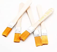 Household Cleaning Dusting Brush Paint Brush Suits for Circuit Board Keyboard Computer Repairs Yellow Bristle Head with Wooden Handle 5Pcs