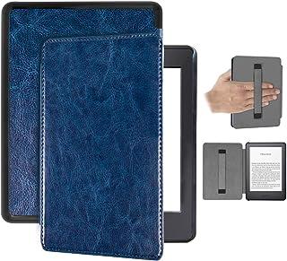 Capa Kindle 10ª geração com iluminação embutida – Auto Hibernação – Fecho Magnético – Alça leitura - Azul Marinho