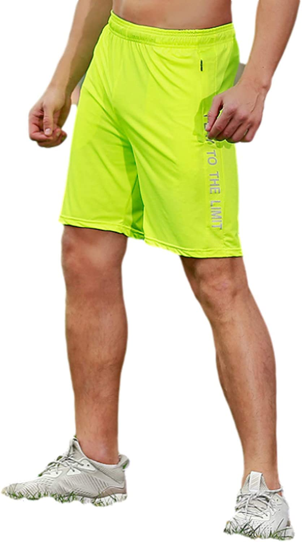 Wantess Men's Summer Shorts with Zipper Pockets Fashion Printing Breathable Comfortable