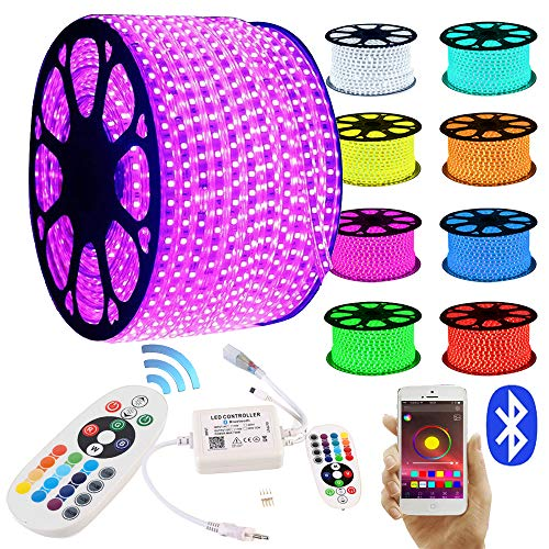 GreenSun LED Lighting LED Strip RGB 30M LED Licht Streifen SMD 5050 60Leds/M mit 24 Tasten Bluetooth Fernbedienung Led stripes Lichtband Leiste Band Beleuchtung Lichterkette Lichterschlauch