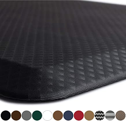 "Kangaroo Original 3/4"" Standing Mat Kitchen Rug, Anti Fatigue Comfort Flooring, Phthalate Free, Commercial Grade Pads, Waterproof, Ergonomic Floor Pad, Rugs for Office Stand Up Desk, 32x20 (Black)"