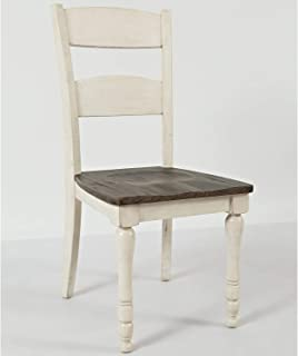 Jofran Madison County Ladderback Dining Chair - Set of 2 Qty 2/Vintage White