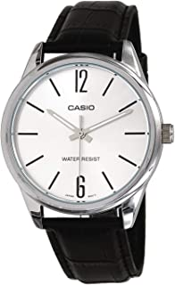 Casio Mens Quartz Watch, Analog Display and Leather Strap MTP-V005L-7BUDF