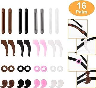 16 Pairs Eyeglasses Retainers, Eyeglass Ear Hook, Silicone Anti-slip Eyeglass Holder, Round Eyeglass Retainers