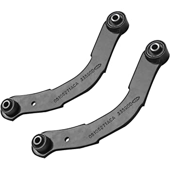 Rear Control Arms 2 Upper 2 Lower Rearward for 2007-2012 Caliber Patriot Compass