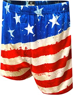 Briefly Stated Men's American Flag Fly The Flag Boxer Shorts