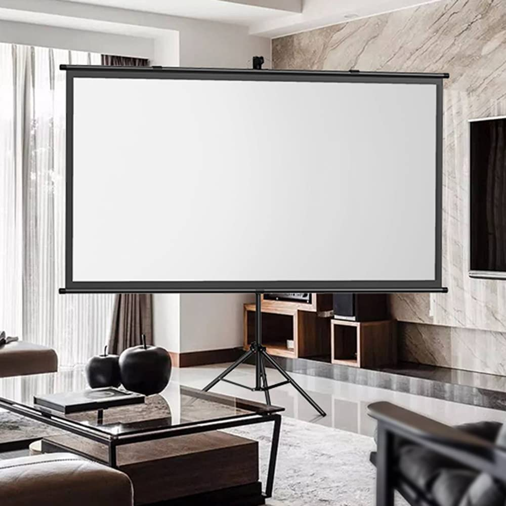Projection Screen Mobile Portable Outdoor 60/72 Inch Home Office Telescopic Bracket Screen Wall Hanging Free Punch