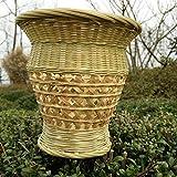 QingT Cestas de Flores de bambú, arreglos Florales, cestas de Flores secas, artesanías de...