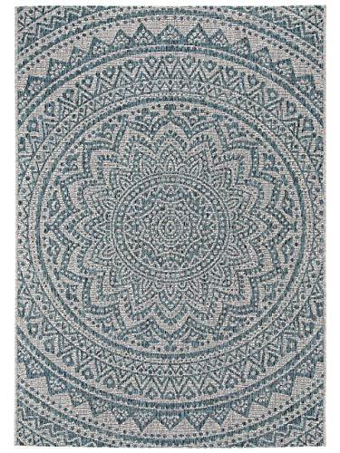 Benuta In- & Outdoor-Teppich Cleo Beige/Blau 120x170 cm - Outdoor-Teppich für Balkon & Garten 4053894761881