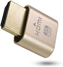 New Generation 4K HDMI Dummy Plug | High Resolution Virtual Screen Display Supports up to 3840×2160@60Hz, 1080@120Hz DVI EDID Adapter (Single)