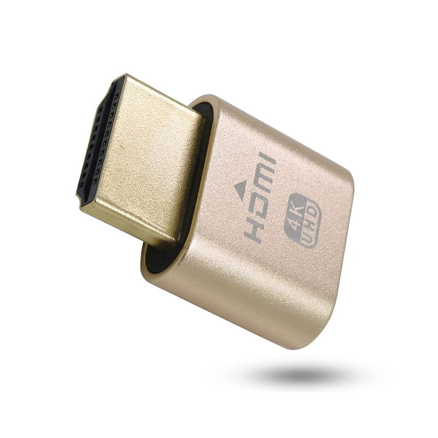 New Generation 4K HDMI Dummy Plug | High Resolution Virtual Screen Display Supports up to 3840×2160@60Hz, 1080@120Hz DVI EDID Adapter (Single)
