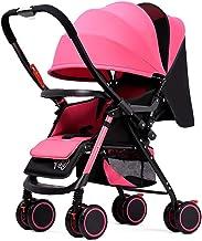 Sistema de Viaje, Silla de Paseo,Extra Grande de Almacenamiento, Durabilidad, Diseño Compacto Plegable, Ajustable Alta Vista Travel System Cochecito Infantil de Carro Silla de Paseo ( Color : Pink )